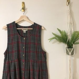 Adorable Plaid School Girl Dress